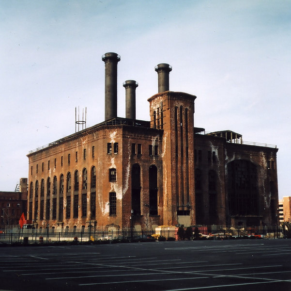 Jersey City Powerhouse; Medium Format Negative Scan, Pentacon 6