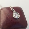 1.03ct Pear Shape Rose Cut Diamond Pendant 9