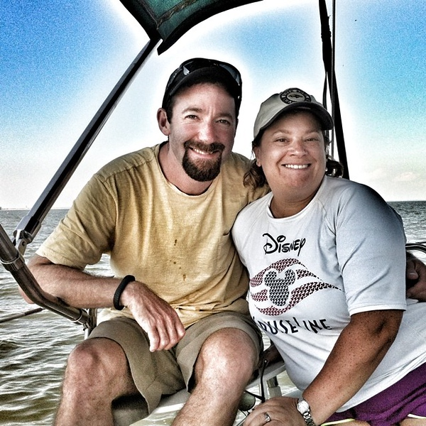 Enjoying a beautiful kid-free day sailing on the #ChesapeakeBay.