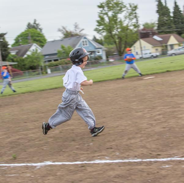 2014 - James First Baseball Game - April