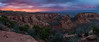 Panorama of the Colorado National Monument at Sunset