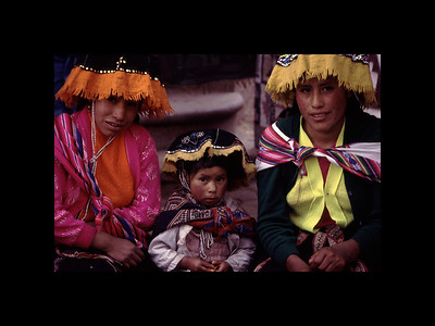 Pisac, Peru - Sunday  Market 1995