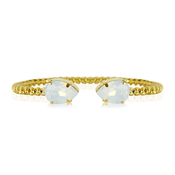 Mini Drop Bracelet / White Opal Gold