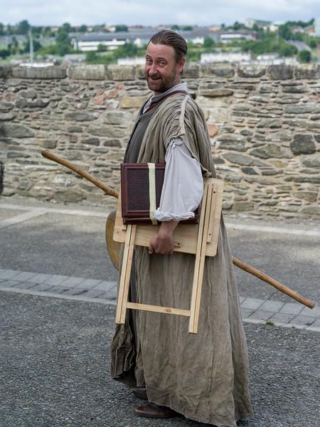 Portrait of Irish man in traditional clothing, Londonderry, Northern Ireland, United Kingdom