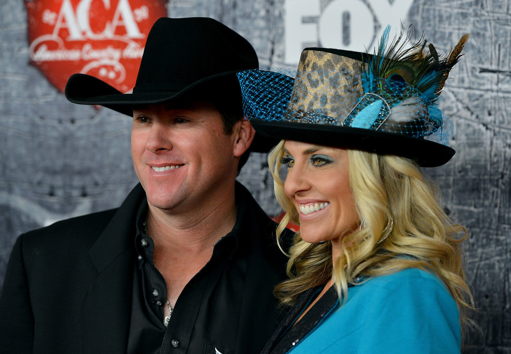 . LAS VEGAS, NV - DECEMBER 10:  Rodeo champion Trevor Brazile (L) and his wife Shada Brazile arrive at the 2012 American Country Awards at the Mandalay Bay Events Center on December 10, 2012 in Las Vegas, Nevada.  (Photo by Frazer Harrison/Getty Images)