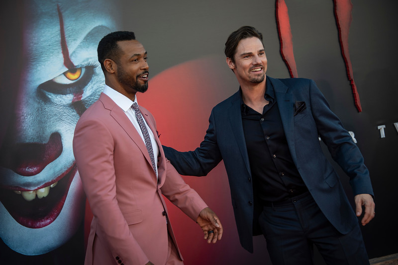 "WESTWOOD, CA - AUGUST 26: Isaiah Mustafa (L) and Jay Ryan attend the Premiere Of Warner Bros. Pictures' ""It Chapter Two"" at Regency Village Theatre on Monday, August 26, 2019 in Westwood, California. (Photo by Tom Sorensen/Moovieboy Pictures)"
