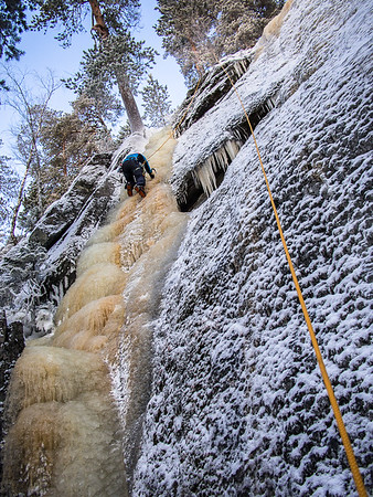 Ice-climbing at Neulamäki 6.1.2016