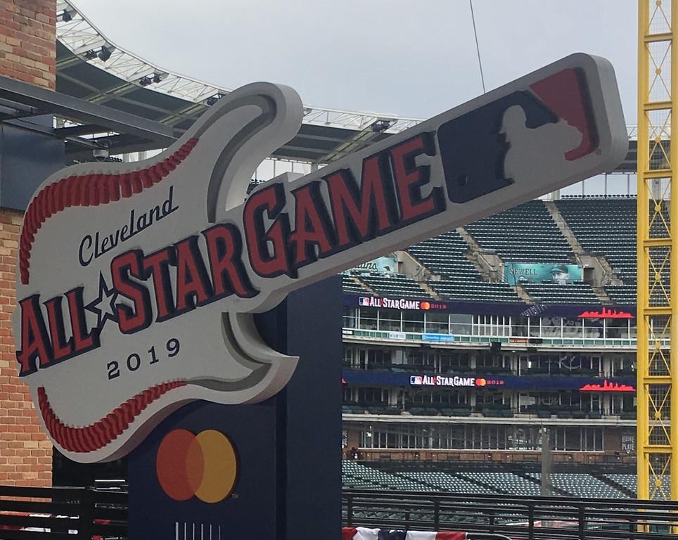 . 2019 All-Star game logo. (David S. Glasier - The News-Herald)
