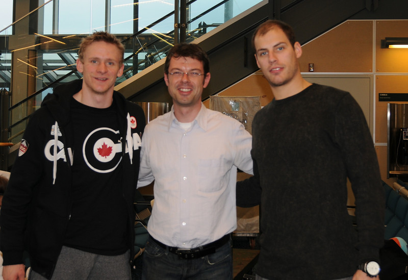 Team Canada Hockey Players and Gold Medalists at the 2010 Vancouver Olympics, Corey Perry and Ryan Getzlaf