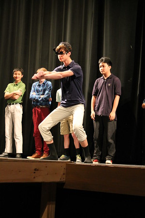 Dancing at the All-School Meeting