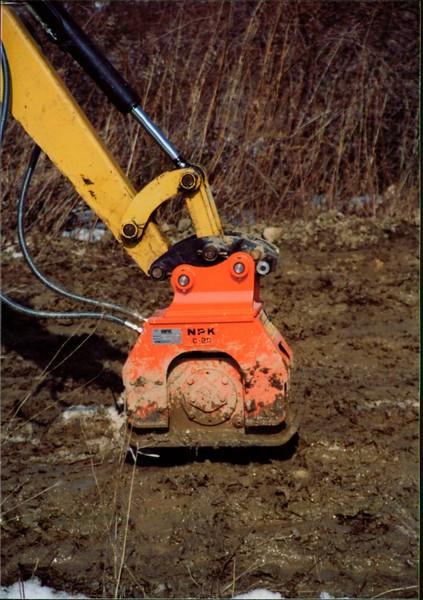 NPK C2D compactor on Cat mini excavator (1).JPG