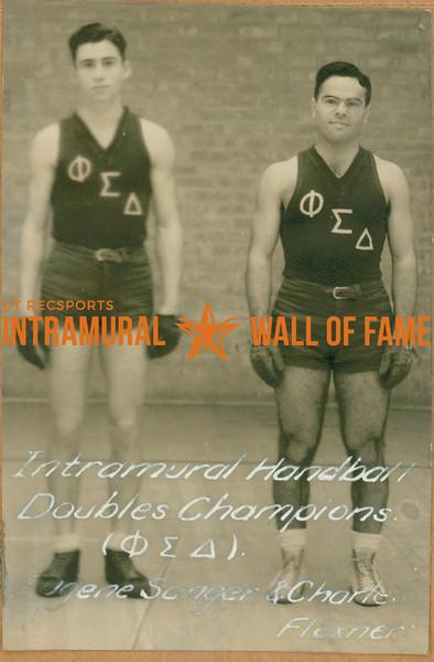 HANDBALL Intramural Doubles Champions  Theta Sigma Delta  Eugene Sanger & Charles Flexner