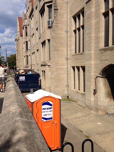 Pit Stop at the University of Chicago September 2017  portable toilet names project