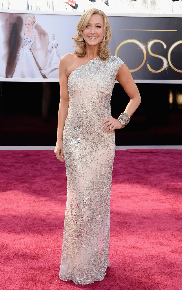 . TV personality Lara Spencer arrives at the Oscars at Hollywood & Highland Center on February 24, 2013 in Hollywood, California.  (Photo by Jason Merritt/Getty Images)