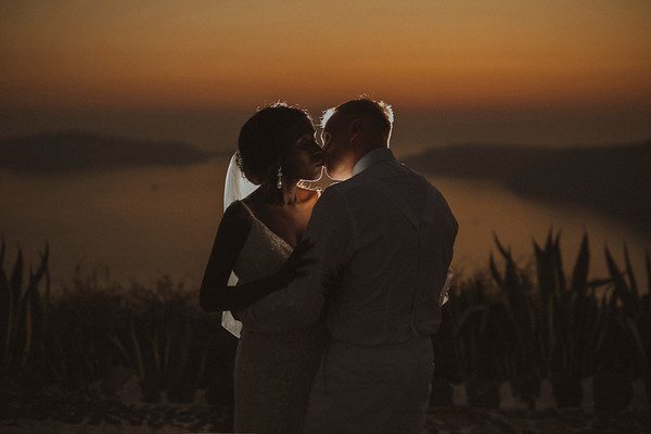 An African wedding in Santorini Island