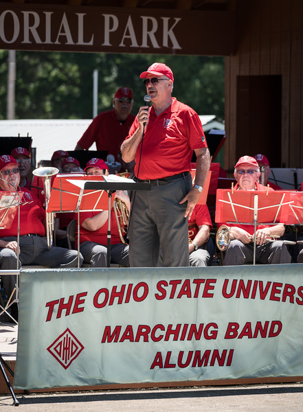 Dave Leppla tells the audience about being an OSUMB Grad Assistant