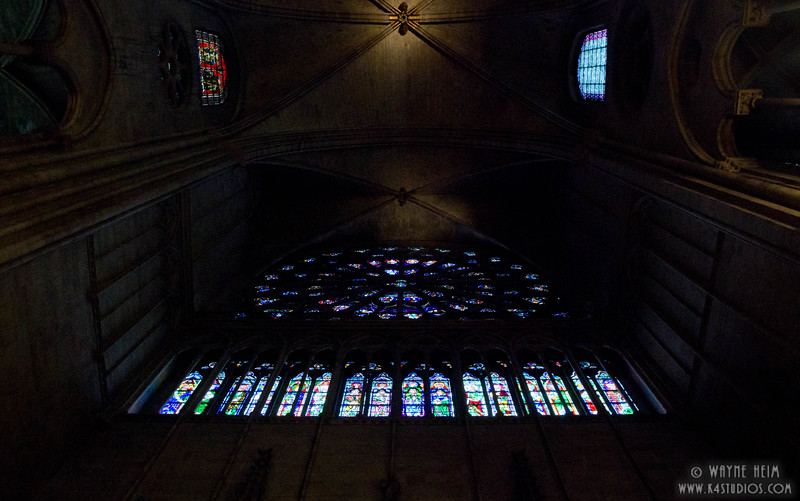 Stained Glass in Notre Dame 2    Photography by Wayne Heim