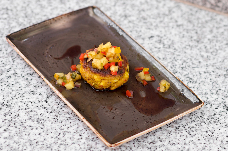 West Indian Curry Crab Cake