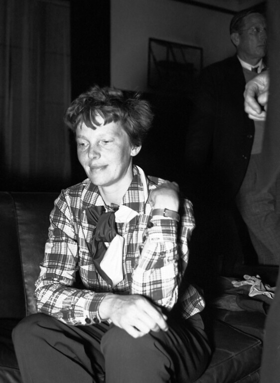 . Aviatrix Amelia Earhart is shown in this undated photo. (AP Photo)