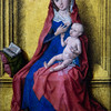 Virgin and Child, attributed to Dieric Bouts, 15th century.  Louvre Museum, Paris, France