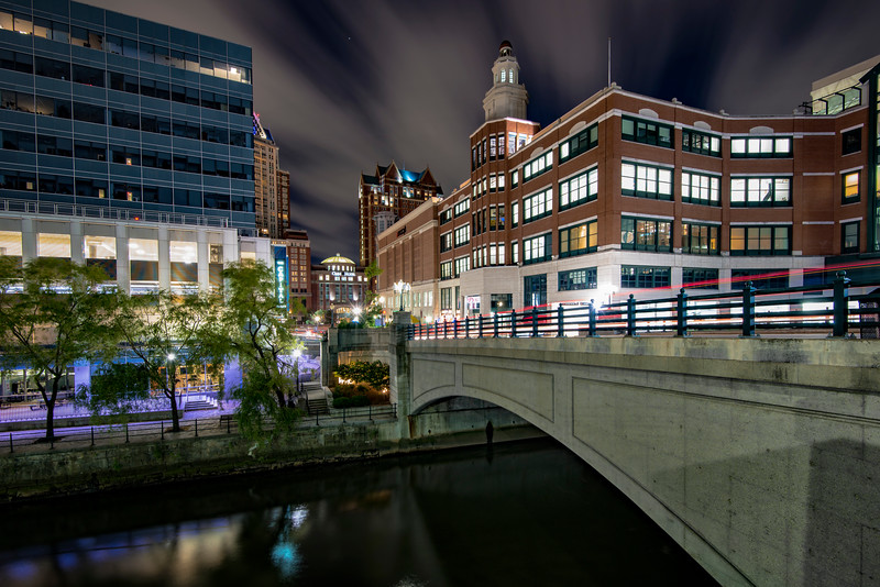 Night shot of Downtown providence, Providence Place, RI
