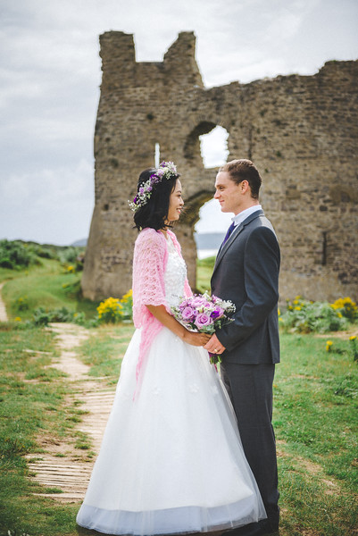 Wedding Portraits at Pennard Castle