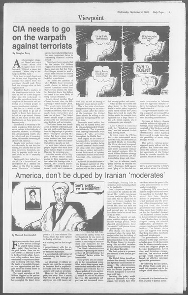 Daily Trojan, Vol. 110, No. 2, September 06, 1989
