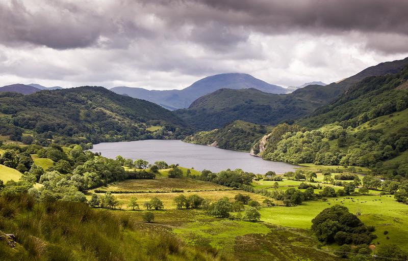 Nant Gwynant valley in Snowdonia