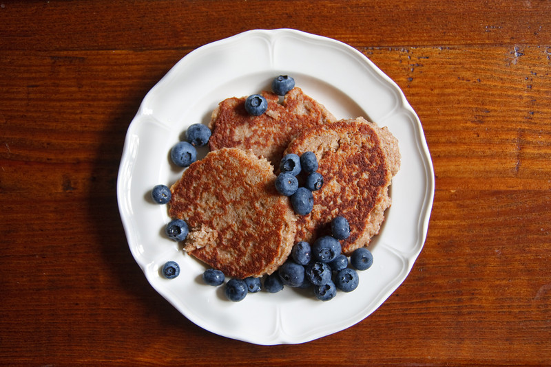 Almond-Meal Blueberry Pancakes (from 'Everyday Paleo')
