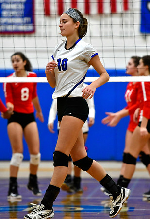 11/10/2018 Mike Orazzi   Staff Southington High School's Jenna Martin (10) during the Class LL Quarterfinal Girls Volleyball Tournament in Southington Saturday.
