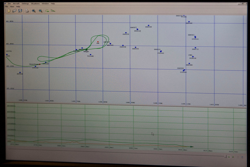 Here's my flight track going into Queenstown...