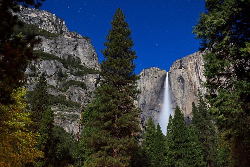 Moonlight on Yosemite Falls