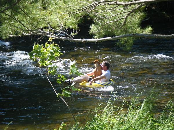 Tubing on Grand Lake Stream <br /> ©Nature'sArt