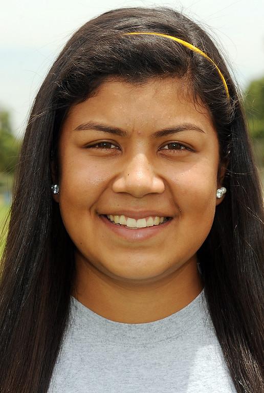 . Salina Galindo has been named to The Sun\'s All-Area softball team. Galindo plays softball for The Sun. Will Lester staff photo The Sun.