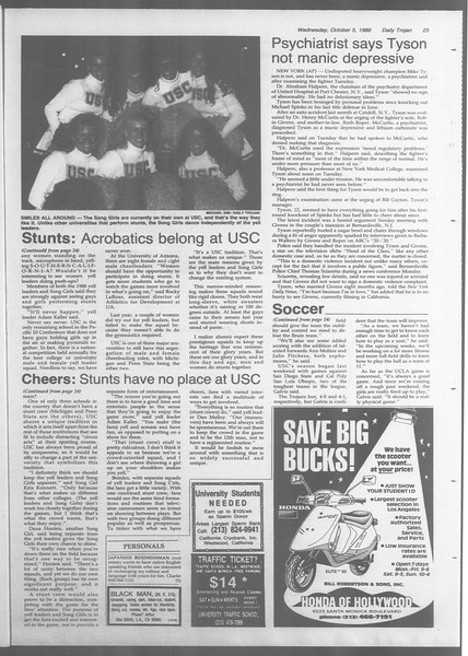 Daily Trojan, Vol. 107, No. 21, October 05, 1988