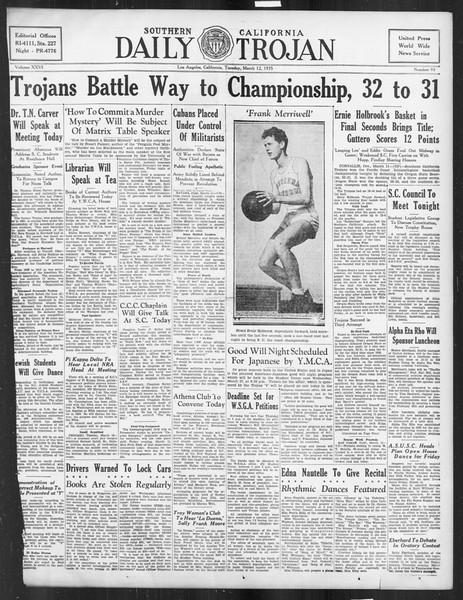Daily Trojan, Vol. 26, No. 93, March 12, 1935