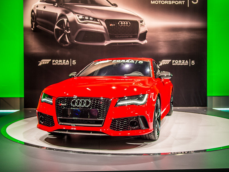 Audi at Forza 5 booth, Gamescom 2013