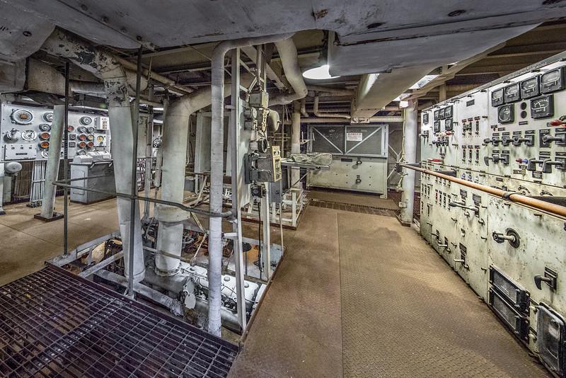 USS Stewart Destroyer (DE-238) Engine Control Room