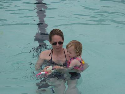 Katie's First Swim
