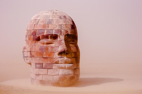 Brickhead EARTH - Sculpture by James Tyler Photography by Yana Copek