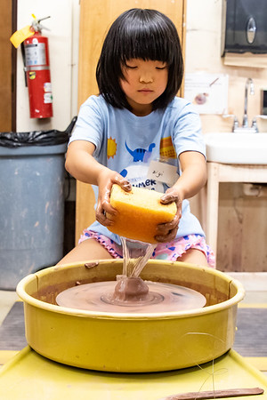 Community Clay Studio Older Kid Camp with Wheel