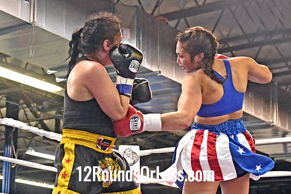 Fourth Pro Bout=Bout 11 Shianne Gist, Blue Trunks -vs- Natalie King, Black Trunks, Female Welterweight, Pro Boxing