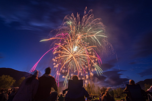 Ausable Club Fireworks - July 1st, 2017