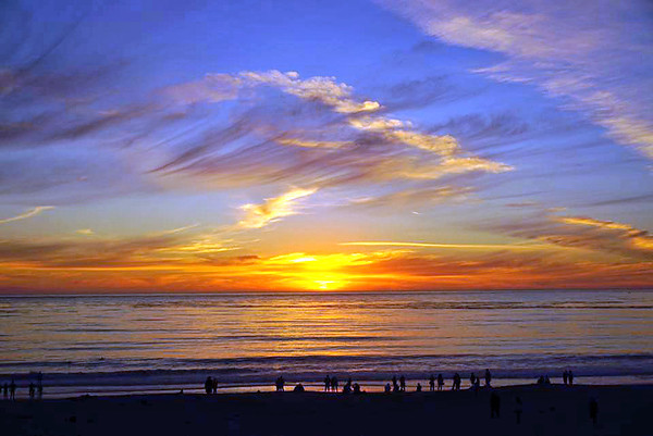 Carmel Beach Sunset Oct 07,2016