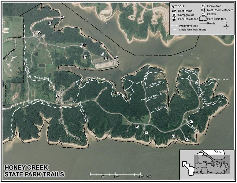 Honey Creek State Park (Trail Map)