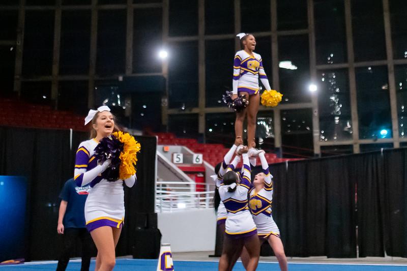 Broughton cheerleading Pre-States. November 16, 2019. D4S_1775