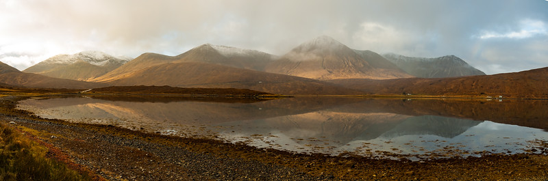 Red Cuillin reflected in Loch Ainort