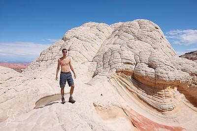 Gordon Smith exploring White Pocket, Arizona