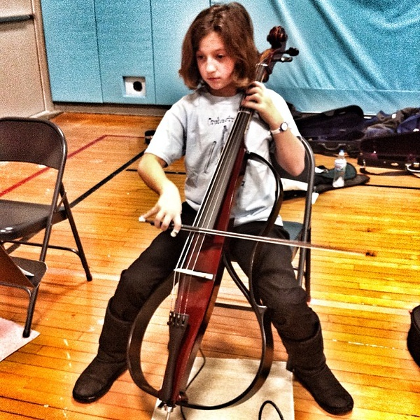 Finally a chance to play the electric cello in concert!