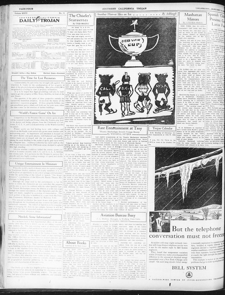 Daily Trojan, Vol. 23, No. 74, January 14, 1932
